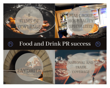 Food and Drink PR photography success graphic