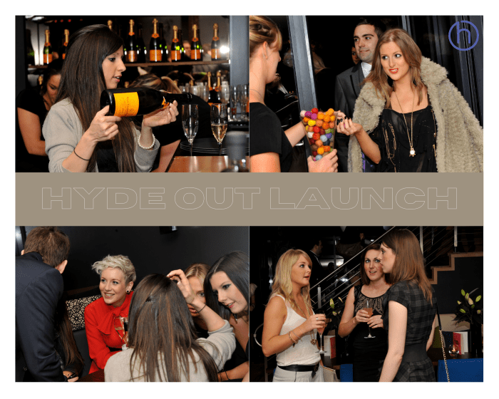 Scottish PR photography Hyde Out launch party media success