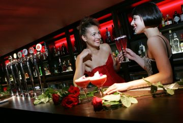 Hotel PR photograph of mouth-watering cocktails at Lulu's glamour launch located underneath Tigerlily, Edinburgh