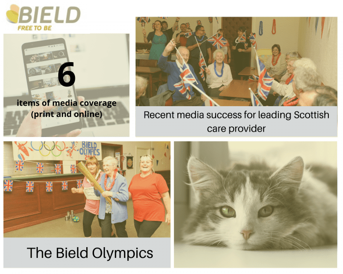 social care PR photography month of success graphic for Bield
