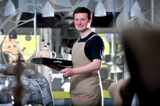 PR in Edinburgh, Scotland for new staff uniforms at restaurant
