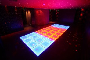 Hotel PR photograph of lush interior of Lulu vibrant dance floor underneath Tigerlily, Edinburgh