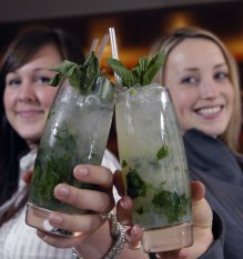 Pub and bar PR photography of Mojitos being made at Rick's Bar in Edinburgh