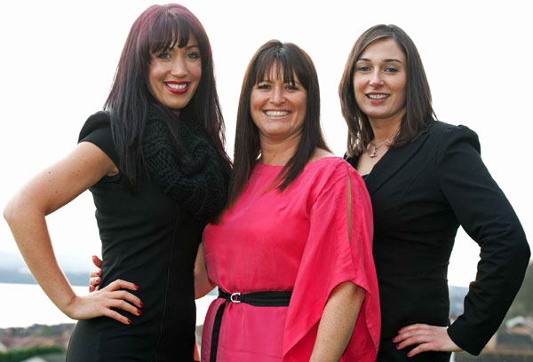 Aimée Johnstone (left) and Joanna Daley (centre) celebrate the launch of new party planning service, Thirty Eleven Seventy. The company creates luxury events which help turn any special occasion into the ultimate celebration. Joanna Daley, set up the company after a decade of success with her business Roselle, which specialises in corporate events. Also pictured is Charlotte McIntosh (right) who is Operations Director with Roselle.