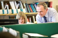 Staff at work in chartered accountants Chiene and Tait