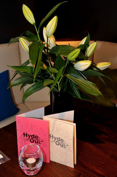 Hyde Out Food and Drink Menus
