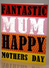 """Luscious cards from the Soul card company's Juice range offer modern sentiment for a colourful world, with cards bearing mottos like """"Fantastic Mum"""" in bold, bright lettering. The cards retail at £2.50 at Scribbler stores across Scotland and England"""
