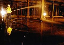 Panton McLeod cleaning a service reservoir