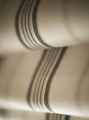 Hotel PR photography of Roman Blinds in one of the rooms at Fraser Suites in Edinburgh, Scotland