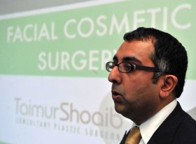 Clinical director Dr Mohammed Ahmad launch the Sculpta Clinic in Glasgow's West End. The clinic is Scotland's newest and most innovative cosmetic practice, offering a one stop shop for cosmetic treatments including Visia facial scanning and Vaser liposuction.