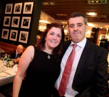 Edinburgh restaurant owner Tony Crolla with his wife are shown in a PR photograph