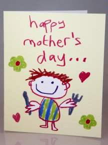 """This image has been viewed 405 times Love & Tickles cards can add a childlike joy to Mothering Sunday – the cards have crayon style line drawings guaranteed to make mum beam. One popular design reads: """"To the queen of the house … Happy Mother's Day from your loyal subject"""" and shows a happy mum with a crown on her head. Another favourite sports a picture of a hungry son with the message """"Happy Mother's Day … please take it easy until my dinner time."""" The cards retail at £2.50 at Scribbler stores across Scotland and England"""
