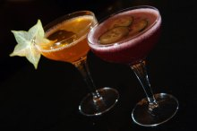 Delicious Tigerlily cocktails in hotel PR photography