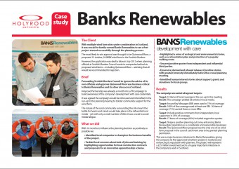 Banks Renewables case study