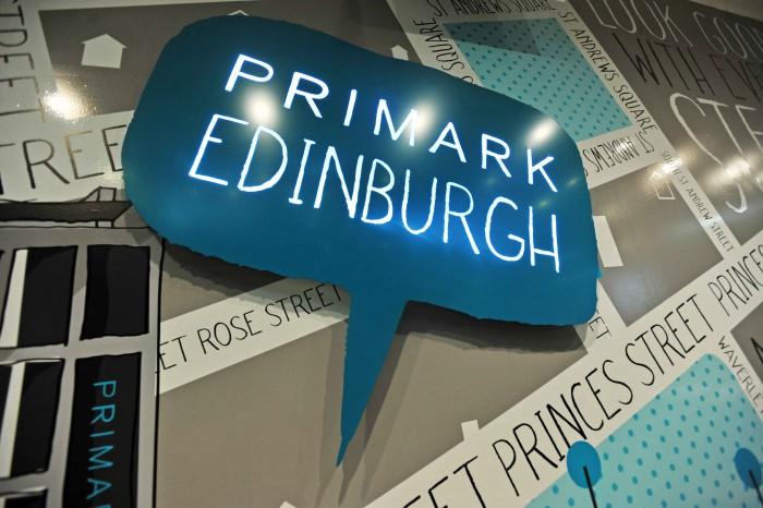Scottish PR launch for Primark in Princes Street, Edinburgh