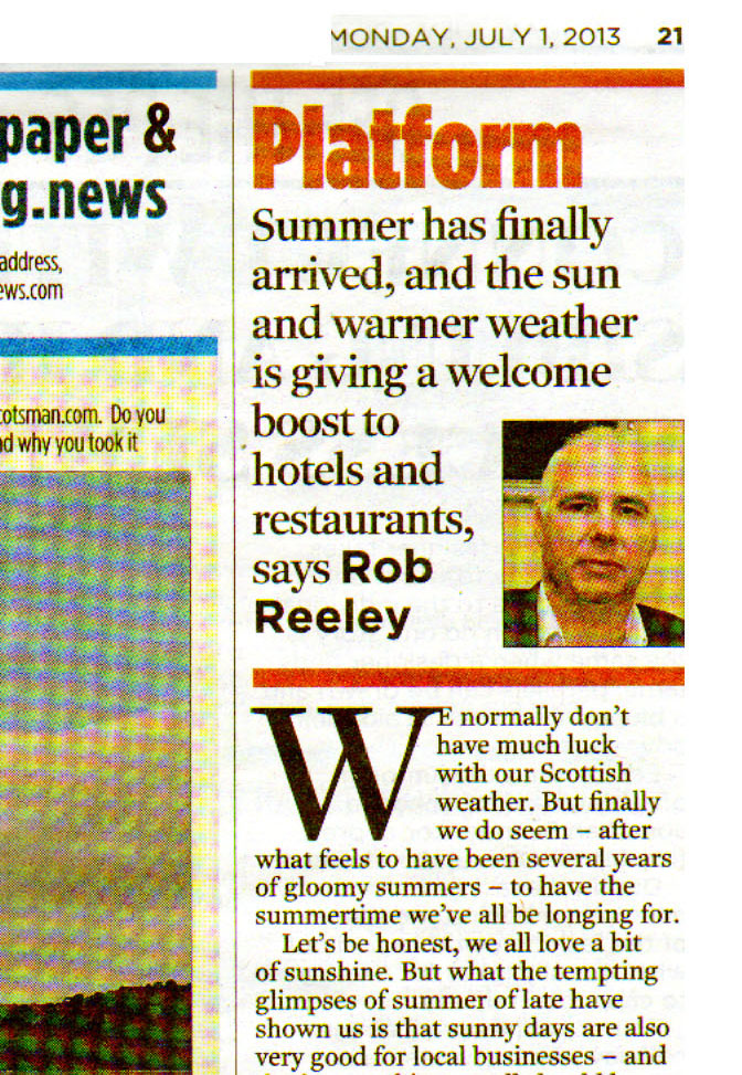 Rob Reeley in the Evening News