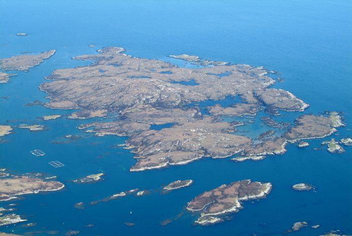 Scottish PR photography Island of Wiay Ariel View Bell Ingram