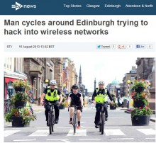 STV Local Online 'Warbiking' Coverage