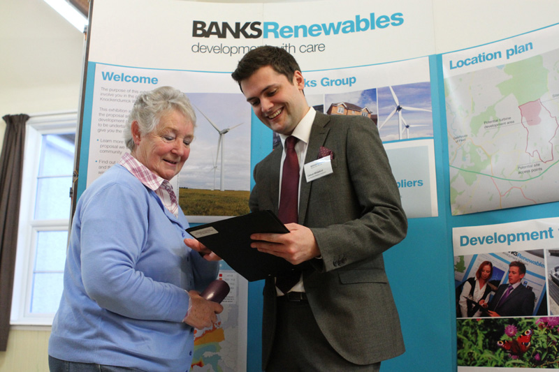 The renewable energy firm will be holding a series of exhibitions for its Knockendurrick Wind Farm