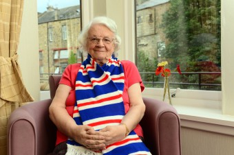 Bield residents knit for charity