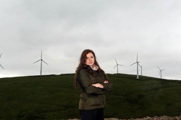 Public relations photography by Edinburgh PR agency on behalf of wind farm company