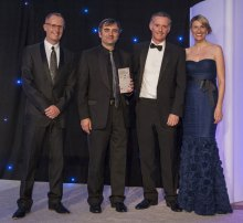 Award winning public relations agency Holryood PR collects a gold PR award