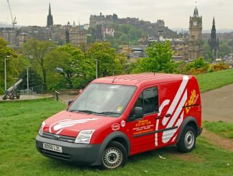 Eagle Couriers Van, Edinburgh