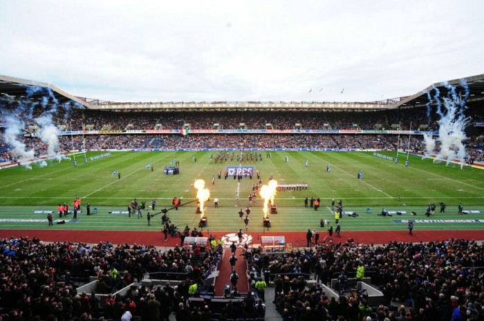 Rugby international at Murrayfield