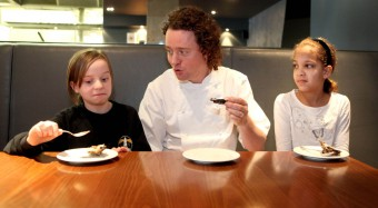 Celebrity chef Tom Kitchin encourages kid to eat healthy food.