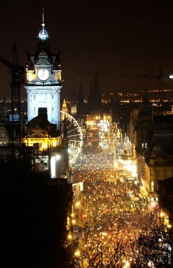 Torchlight procession in Edinburgh