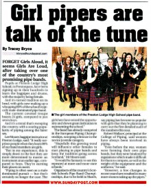 School piping competiton media coverage