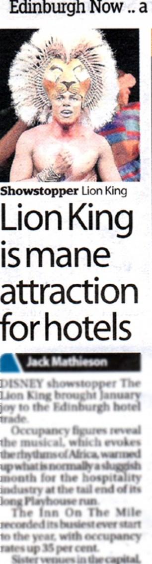Edinburgh Now Lion King Feature