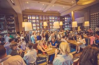 A Crowd at Edinburgh's Inn on The Mile