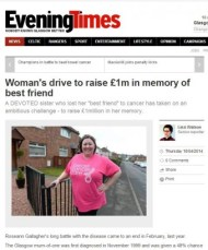 10 APR Evening Times Friend Raises Money