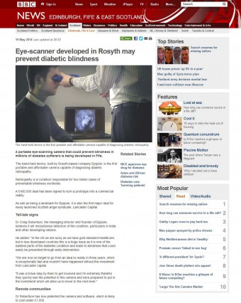 19 MAY BBC online full page