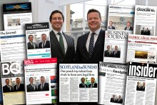 A montage of successful launch PR coverage for new law firm Gilson Gray
