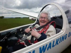 Plucky pensionr Betty Lyons took a surprise birthday trip in a glider