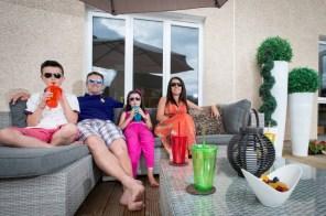 Family photo outside