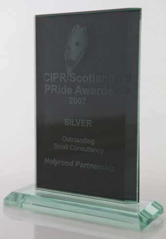 PR agency Holyrood PR collected silver in the PR Award for Outstanding Small Consultancy in 2007