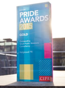 PR Award for Scotland's Outstanding Small Public Relations Agency