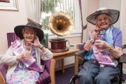 Two residents in a Scottish care home for older people