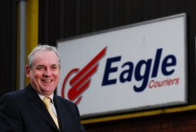 PR photo of Jerry Stewart, director of Eagle Couriers