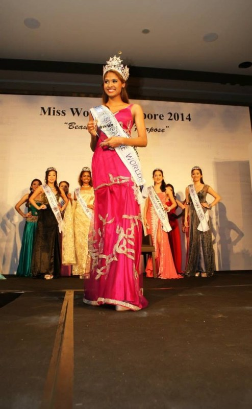 Miss Singapore winning