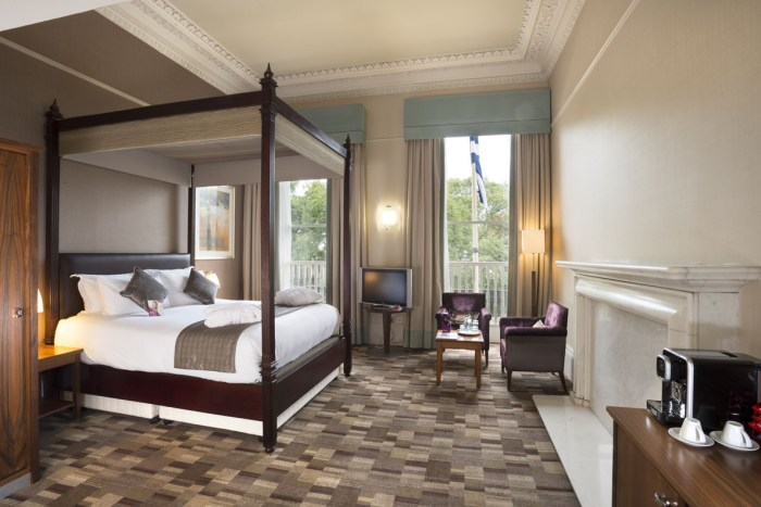 Hotel PR photography of suite at the Crown Plaza hotel in Edinburgh, Scotland