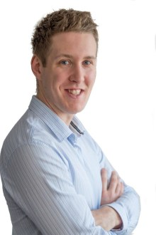 Public relations team member Chris Fairbairn of Holyrood PR in Edinburgh