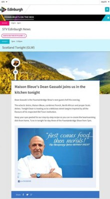 Scottish PR agency help Edinburgh Restaurant get back in the headlines thanks to PR photography