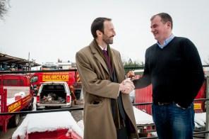 Colin Anderson with Ewan Turner of Drumclog Plant Ltd,