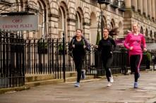 PR photographs taken by Edinburgh public relations photography service to capture hotel running club