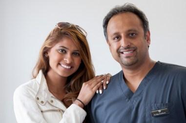Miss Singapore, Dalreena Poonam Gill, visited Lubiju dental surgery in Leith, Edinburgh.