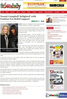 PR agency in Edinburgh help run international PR campaign around Fashion for Relief project fronted by super model